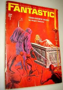 Fantastic Stories of Imagination June,1965 Gray Marrow Bondage Cover - Zelazny