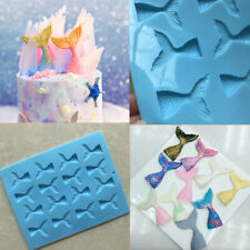 Mermaid Tail Cake Mold Jelly Cookies Soap Fish Chocolate Ice Cube Baking Mould