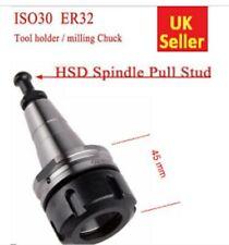 ISO30 x45 ER32 CNC Tool Holder G2.5 30000 RPM Balanced HSD Milling Lathe