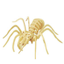 Spider 3D Wooden Puzzle Diy Build Three Dimensional Wood Craft Fun Project Bug