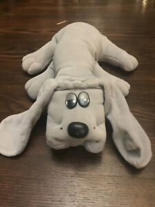 "Pound Puppy Plush Grey Dog 1985 Large 17"" Tonka Vintage"