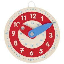 Lernuhr aus Holz für Kinder Uhrzeit lernen Kinderuhr Spieluhr Schule goki 58485