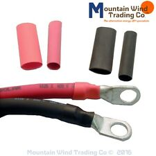 """3/8"""" Heat Shrink Tubing for Lugs 1 foot Red 1 foot Black total of 2 feet"""