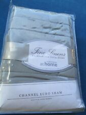 Nordstrom At Home Channel Euro Pillow Sham Nip Cotton Silk Blend gray/green