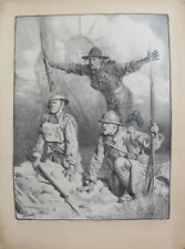 1917 SIGNED ORIGINAL WW1 FRENCH PROPAGANDA POSTER, SOLDIERS W/ STATUE OF LIBERTY
