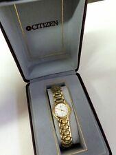 CITIZEN lady yellow NOBLIA quartz watch with white dial  NEW