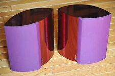 Pair Matching Bang & Olufsen Beolab 4000 Powered Speakers (Red/Maroon) Dead Mint