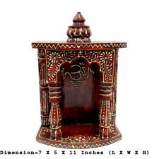 Wooden Temple Indian Hindu Pooja Ghar Worship Wall Temple Mandir Temple Art