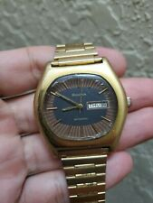 Bulova 1972 CLIPPER vintage automatic watch Day Date 11 A0ACB two-colour dial