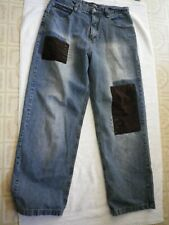 Men's Southpole denim jeans 34 x 31 patchwork legs