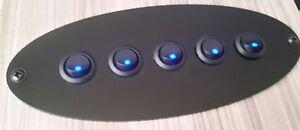 Camper Van Gloss Black Control Panel 210mm x 85mm