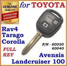 Toyota Remote Key Corolla Rav4 Avensis Tarago Landcruiser Two Buttons - 60030