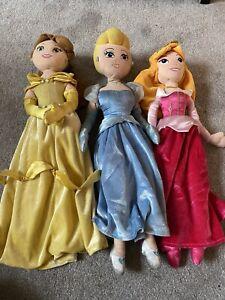 Disney Princess Soft Toy Dolls, Belle, Aurora, Cinderella,  Disney Store Faulty