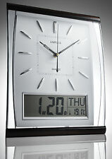 AMPLUS SILENT DIGITAL WALL CLOCK JUMBO LARGE DISPLAY DAY & DATE WHITE