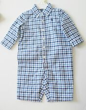 Ralph Lauren Baby Boys Check Jersey Lined Coverall Blue Multi Sz 3M - NWT