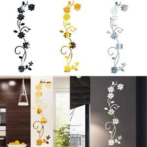 3D-Spiegel Flower Art Wandaufkleber Acryl Wandtattoo Aufkleber Home Room Decor