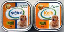 123 x 150g Hundefutter Nassfutter 2 Sorten Geflügel/Kalb Pastete *versandfrei*