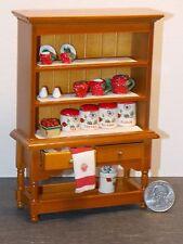 Dollhouse Miniature Kitchen Hutch Cabinet Strawberry 1:12  F51  Dollys Gallery