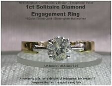 Good Cut Not Enhanced Yellow Gold I1 Fine Diamond Rings