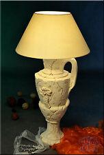 Griechische Lampe Tischlampe Tischleuchte Stehlampe Steinlampe Kanne Stuckgips