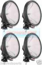 "4 x SIM 3228 12V/24V 9"" ROUND NARROW PENCIL BEAM DRIVING SPOTLIGHTS SPOTLAMPS"