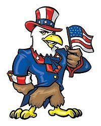 Military Uncle Sam Eagle RWB temporary tattoo, pkg 10