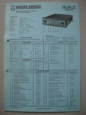 Philips ND484VT Autoradio Schaltplan auf blauer Pappe Ausgabe 05/58