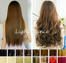 "20""/24"" Synthetic Curly/Straight One Piece Hair Extensions 5 clips in 50CM/60CM"
