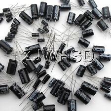 1uf2200uf 25 Value 125pcs Electrolytic Capacitors Assortment Kit Assorted Set