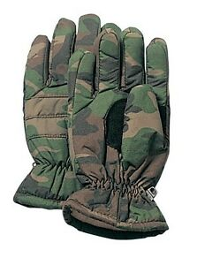 Insulated Hunting Glove Cold Weather Mitten - ACU, Wood Camo, Black - S,M,L,XL