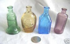 4 minature bottles cathedral,Wash.flask,indi an bit.bell