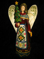 Lovely Resin Angel Holding A Tree - Gorgeous Intricate Detail!