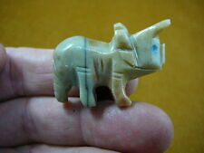 (Y-Din-Tr-6) Triceratops Dinosaur figurine soapstone carving I love dinosaurs