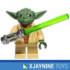 LEGO STAR CLONE WARS Jedi General Yoda Animated Version Minfig + Lightsaber NEW