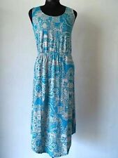 Liz Claiborne Sleeveless Floral Dress in Teal Size PXL