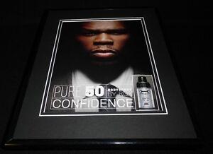 50 Cent Pure 50 Bodyspray 2008 Framed 11x14 ORIGINAL Vintage Advertisement