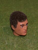 VINTAGE ACTION MAN 40th REPLACEMENT EAGLE EYE HEAD FLOCKED FUZZY BROWN HAIR
