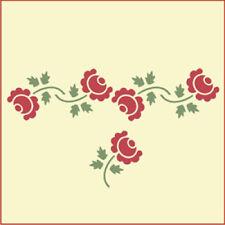 COTTAGE ROSE STENCIL SET - FLOWER STENCIL - The Artful Stencil