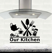 Our kitchen wall art sticker cutlery decal stickers vinyl home decor