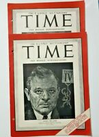 2 TIME magazines: Novikov and Hillman 1944 WWII Printed in Egypt.