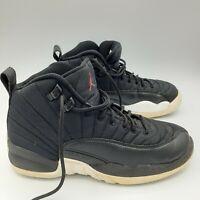 Nike Air Jordan 12 XII Retro BG GS Size 5.5 Y Nylon Neoprene Black 153265-004
