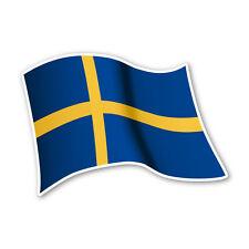 Schweden Flagge Sweden Autoaufkleber Sticker Fahne Aufkleber DRU 0081