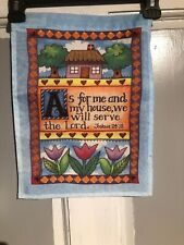 Mini Garden Yard Flag New Joshua 24:15 Quote Free Fast Shipping
