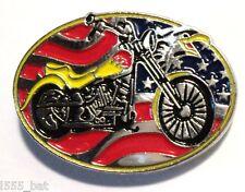 USA Chopper American Eagle Biker Motorcycle Bike Motorbike Metal Rocker Badge