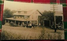 Old Ligonier PA Lincoln Highway Lodge Garage Cabins Lunch Esso Gas Postcard Repo