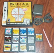 Lot of 14 Nintendo DS and DS Lite Games Charger Stylus Scribblenauts Collection