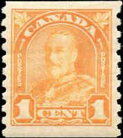 Canada Mint H 1930 1c F-VF Scott #178 King George V Arch Leaf Coil Stamp