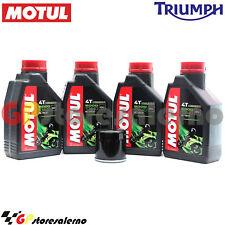 KIT TAGLIANDO OLIO + FILTRO MOTUL 5000 10W40 4LT TRIUMPH 1050 SPEED TRIPLE 2009