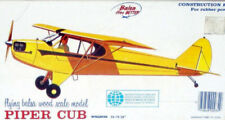 """Vintage PIPER CUB 25"""" Span Comet FF PLAN + All Parts Patterns for Model Airplane"""