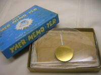 Vintage Ther-memo-ter Desk Memo Pad & Standing Thermometer Original Box USA